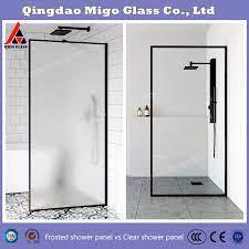 custom clear glass shower door