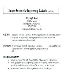 Sample Resume Objectives Student Objective For Resume Objective On