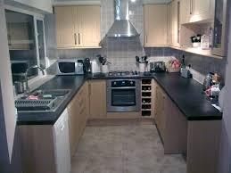 small u shaped kitchen floor plans wooden varnished island brown harwood floor brown granite countertops beautiful white wooden countertop home