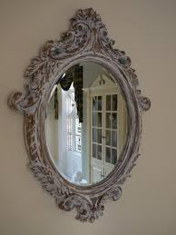 well suited design vintage wall mirrors designing inspiration french style distressed carved oval mirror bevelled glass