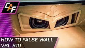 building car audio false wall subwoofer box trunk build car audio box speakers at Car Audio Box