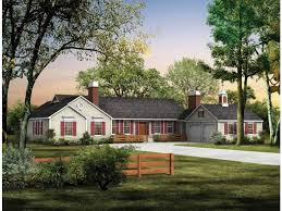 Image of: Amazing Long Ranch Style House Plans