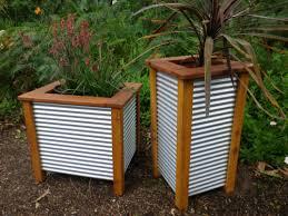 corrugated metal fence panels. Corrugated Metal Fence Panels | MINI GARDEN LARGE THREE TUB PLANTER M
