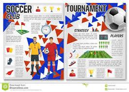 soccer team brochure template vector soccer team club football club brochure stock vector