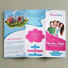 Child Care Brochure Design Free Child Care Tr Ifold Brochure
