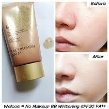 เวลคอส บ บ คร มข นเทพส ตรใหม welcos no makeup face bb whitening spf30 pa 50 ml trendy2016 inspired by lnw