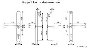68pz fullex lever lever door handle by hoppe backplate length 245mm the window door repair
