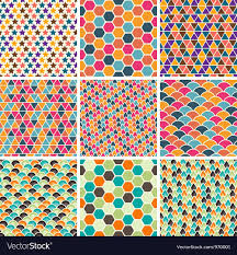 Retro Pattern Extraordinary Retro Geometric Patterns Royalty Free Vector Image