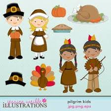 thanksgiving pilgrim clipart. Brilliant Thanksgiving Pilgrim Kids Cute Digital Clipart For Card Design Scrapbooking And Web  Design 500 In Thanksgiving R