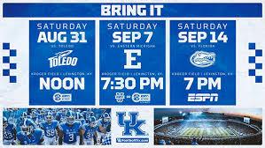 University Of Kentucky Football To Open 2019 Season With