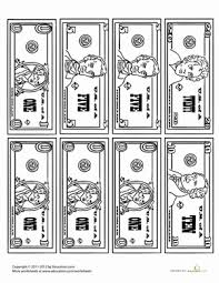Money Coloring Page Worksheet Educationcom