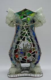stained glass sculpture stained glass with plaster shattered glass and resin stained glass sculptures for
