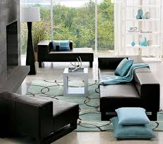 image of modern turquoise rug