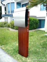 modern mailbox dwell. Modern Mailbox With Post Contemporary Exterior Mid Century  Vinyl Numbers . Dwell