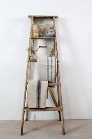 interior antique painter s ladder old wood unusual wooden step ladders for flawless 3