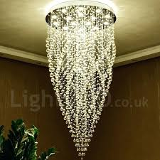 long chain chandelier lights modern led crystal ceiling pendant light indoor chandeliers home hanging down lighting
