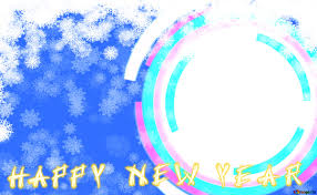 infographics circle frame happy new year card