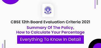 cbse 12th board evaluation criteria