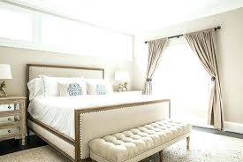 Upholstered Wood Bed Neutrals And Linens Create Serene Bedroom Decor