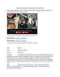 watch empire season 4 episode 1. Beautiful Season Watch Empire Season 4 Episode 1 Full HD Online 1  Intended E