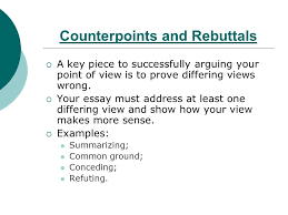 persuasive writing ppt video online  12 counterpoints and rebuttals