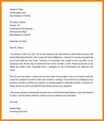 Sample Notice Letters 2 Week Notice Letter Samples 2 Week Notice Resignation Letter