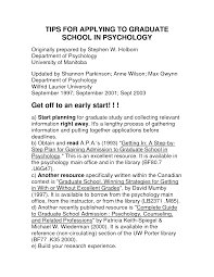 Cover Letter For Psychology Graduate Example Cover Letter