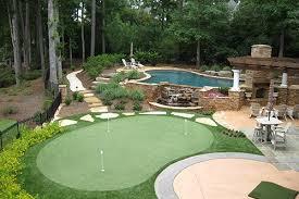 backyard putting green installation cost