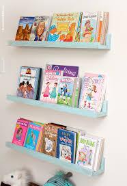 diy bookshelf ledges