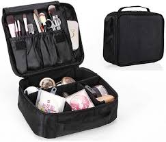 portable travel makeup bag cosmetic organizer make up artist storage for cosmetics makeup brushes jewelry toiletry and travel accessories souq uae