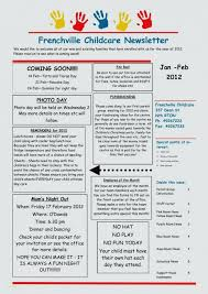 Daycare Newsletter Collection Childcare Newsletter Examples Free