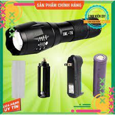 Đèn pin siêu sáng T6 nhôm nguyên khối chống nước pin 18650 hoặc AAA đèn pin  sạc Zoom X2000 tại Thừa Thiên Huế