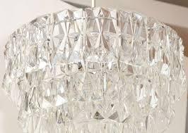 german kinkeldey 3 tier rectangular crystal prism chandelier for