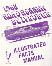 1968 plymouth repair shop manual original barracuda fury belvedere 1968 plymouth illustrated facts and features manual reprint belvedere roadrunner staellite gtx