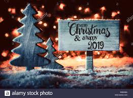 Wooden Christmas Sign With Lights Wooden Sign With English Calligraphy Merry Christmas And A