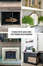 9 creative and chic diy fireplace screens