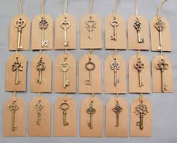 Mixed 40pcs <b>Antique</b> Bronze <b>Vintage</b> Keys& 40pcs Kraft Tags ...