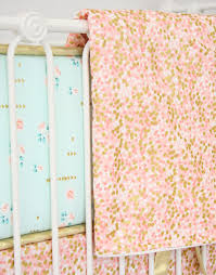 caden lane c and gold sparkle baby bedding