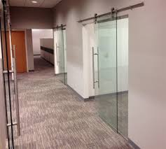 sliding office doors tempered glass on pipeline sliders