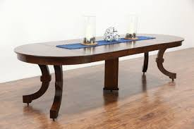Arts Crafts Mission Oak Antique 45 Craftsman Dining Table 6