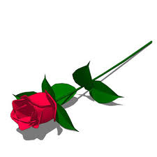single red rose 3d model formfonts 3d