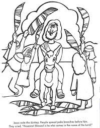 Small Picture Palm Sunday Bible coloring page for Kids to Learn bible stories