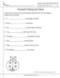 Resume Past Tense Worksheets to Have Verb Homeshealth 92
