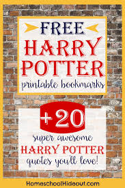 Hp Quotes Printable Harry Potter Bookmark Homeschool Hideout 79