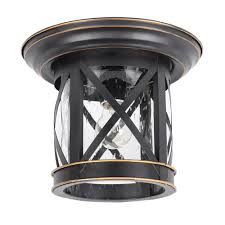 Home Depot Porch Ceiling Lights Imperial Black 1 Light Outdoor Ceiling Mounted Flush Mount Light