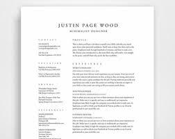 Elegant Resume Template 8 Traditional Classic Professional