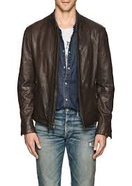 john varvatos star u s a men s leather racer jacket