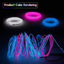 Halloween Neon Lights Esco Lite El Wire Neon Lights 9ft Neon Signs Portable 3m For Halloween Christmas Party Decoration Home Blue White Pink