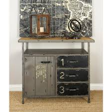 Gray Industrial Metal and Wood Utility Cabinet-55562 - The Home Depot