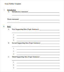 essay outline template essay outline template sample view larger